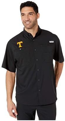 Columbia College Tennessee Volunteers Collegiate Tamiamitm II Short Sleeve Shirt (Black) Men's Short Sleeve Button Up