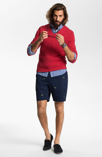 Brooks Brothers 'Pineapple' Flat Front Shorts