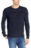 Dickies Men's Solid Texture-Stripe Crew-Neck Sweater