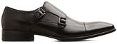 Kenneth Cole Regal Bearing Leather Monk Strap Dress Shoe