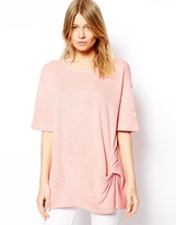 Asos Tunic with Short Sleeves and Twist Front Detail
