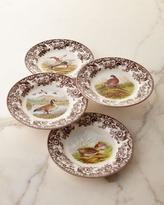 Spode Assorted Woodland Bird Dinner Plates, 4-Piece Set