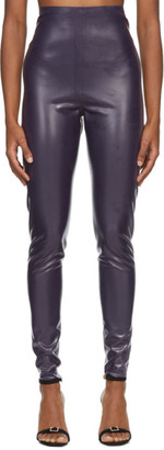Saint Laurent Purple Latex Leggings