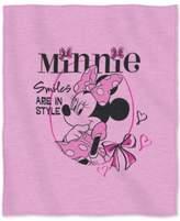 "Disney Minnie Mouse ""Smiles in Style"" 50"" x 60"" Sweatshirt Throw"