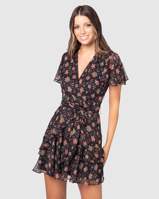 Pilgrim Women's Black Mini Dresses - Anci Mini Dress - Size One Size, 14 at The Iconic