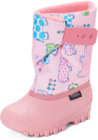 Tundra Pink Hippo Teddy Snow Boot