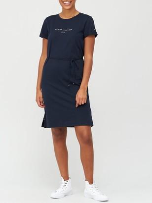 Tommy Hilfiger Essential Regular Crew Neck Dress - Navy