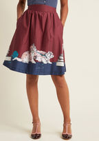 Style Study A-Line Skirt in Scholarly Kitties in XS - Full Skirt by ModCloth