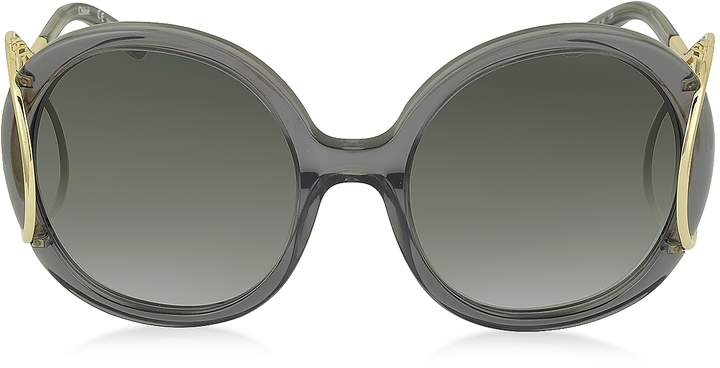 Chloé JACKSON CE 703S Large Round Acetate and Metal Women's Sunglasses