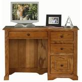 Glastonbury Computer Desk Loon Peak Color: Dark Oak