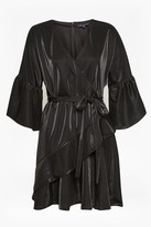 French Connection Ellette Shimmer Jersey Wrap Dress