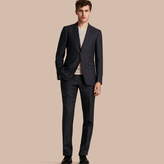 Burberry Modern Fit Linen Wool And Silk Trousers