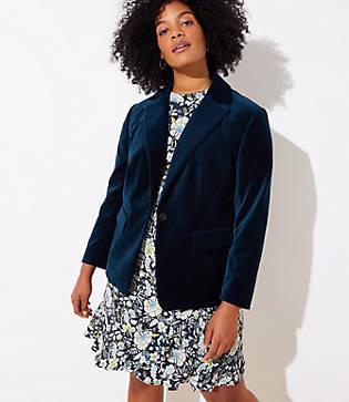 LOFT Plus Velvet Modern Blazer