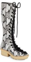 3.1 Phillip Lim Mallory Embossed Leather Knee-High Boots