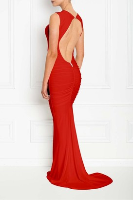 Honor Gold Bella Red Backless Sleeveless Maxi Dress