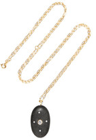 Cvc Stones Croix 18-karat Gold, Stone And Diamond Necklace