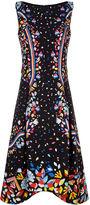 Peter Pilotto Black Confetti Print Cady Dress