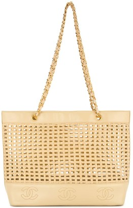 Chanel Pre Owned 1996-1997 Mesh Motif Chain Strap Tote