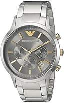 Emporio Armani Men's Quartz Stainless Steel Casual Watch, Color:Silver-Toned (Model: AR11047)