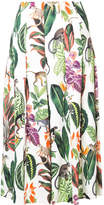 Oscar de la Renta floral print pleated skirt