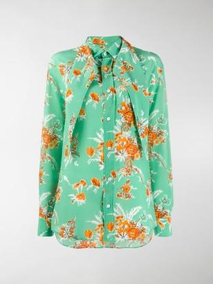 Plan C Floral Long-Sleeve Blouse