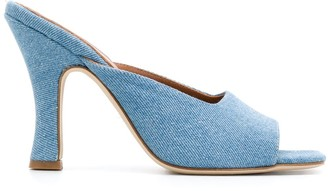 Paris Texas 110mm Denim Mules