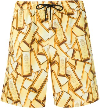 Billionaire Gold Bar Swim Shorts