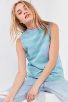 BDG Striped Mock-Neck Tank Top