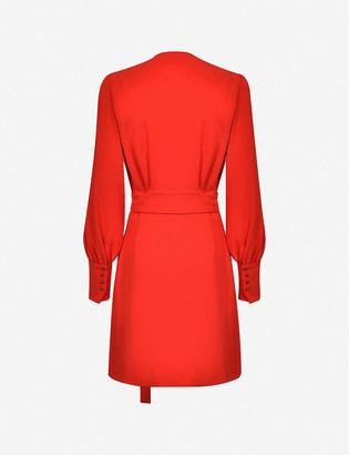 Pinko Capeta belted crepe mini dress