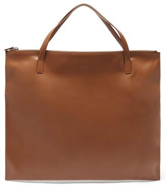 Jil Sander Oversized Leather Tote Bag - Womens - Tan