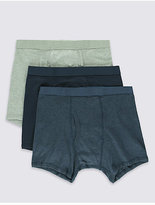 M&s Collection 3 Pack Pure Cotton Cool & Freshtm Trunks