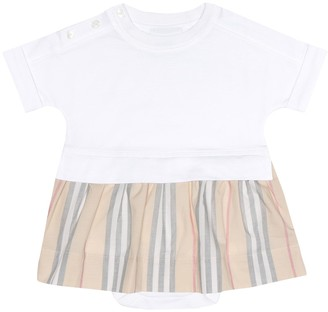 BURBERRY KIDS Baby cotton dress and bloomers set