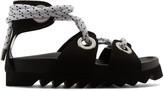 Joshua Sanders Black Sailor Lace-up Sandals