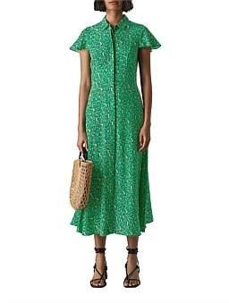 Whistles Ditsy Blossom Midi Shirt Dress