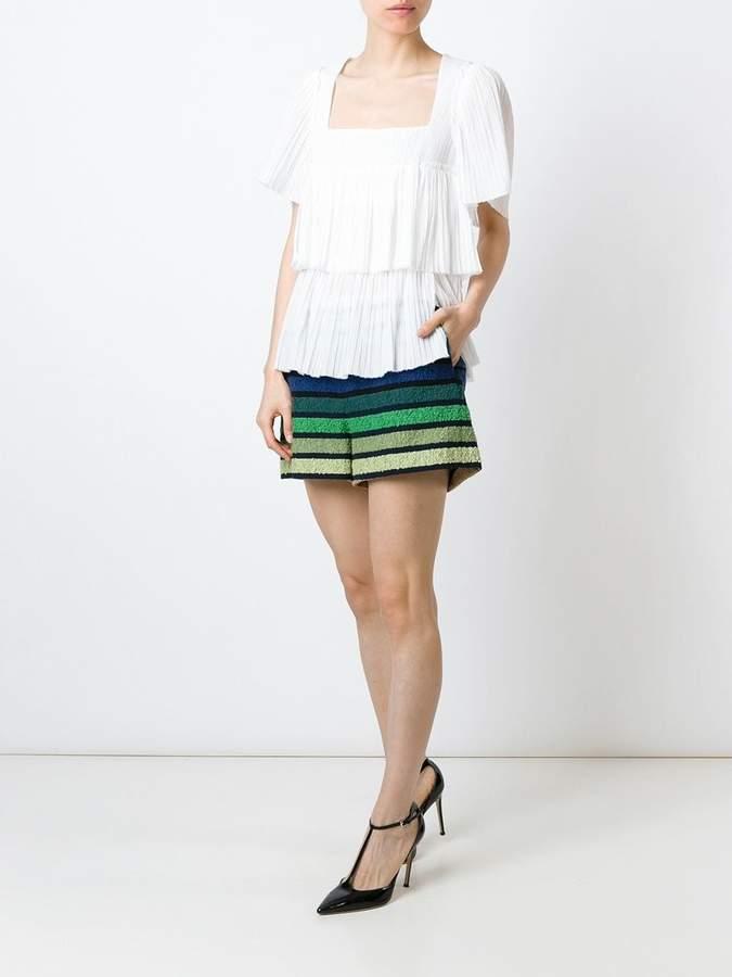 Sonia Rykiel tiered pleat blouse