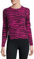 Marc Jacobs Cashmere Tiger-Print Crewneck Sweater, Pink/Multi