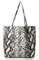 Saks Fifth Avenue Multi-Colored Snakeskin Print Double Strap Large Tote Shoulder