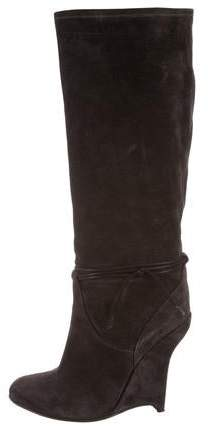 Opening Ceremony Suede Wedge Boots