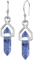 BRIDGE JEWELRY Bridge Jewelry Blue Silver Over Brass Drop Earrings