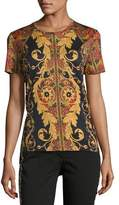 Etro Vine Paisley Cotton T-Shirt, Black
