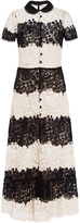 RED Valentino Short Sleeve Lace Dress