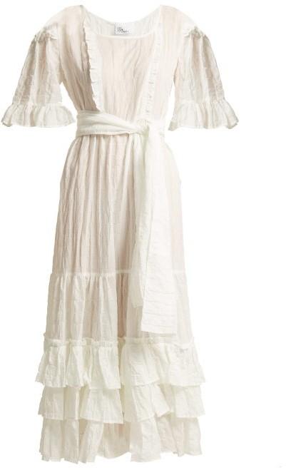 Lisa Marie Fernandez January Seersucker Dress - Womens - White Stripe