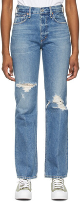Citizens of Humanity Blue Libby Relaxed Bootcut Jeans