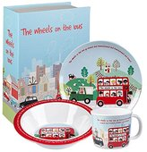 """Camilla And Marc Little Rhymes Melamine """"Wheels on The Bus"""" Breakfast Set"""