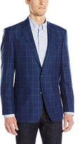 Tommy Hilfiger Men's Two Button Windowpane Sport Coat