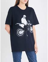 Justin Bieber Ladies Stadium Tour Motorcycle Cotton-Jersey T-Shirt
