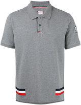 Moncler Gamme Bleu tri-colour stripe polo shirt - men - Cotton - XS