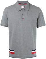 Moncler Gamme Bleu tri-colour stripe polo shirt