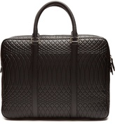 Paul Smith No.9 embossed-leather briefcase