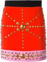 Fausto Puglisi studded fitted skirt